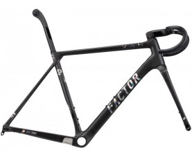 Sườn Factor 2020 O2 VAM frame set Naked_Black_Chrome