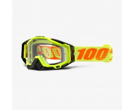 Kính 100% RaceCraft Goggle Attack Yellow - Clear Lens